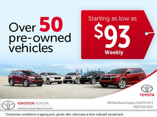 Pre-Owned Vehicles Selection